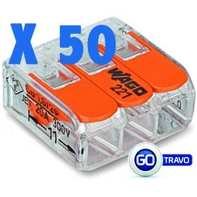 WAGO Wago triple pour fil souple ou rigide x 50 221413 50