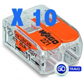 WAGO Wago double pour fil souple ou rigide x 10 221412 10