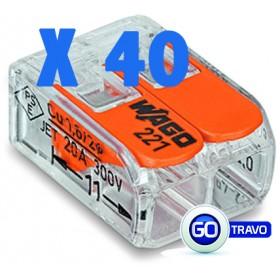 WAGO Wago double pour fil souple ou rigide x 40 221412 40