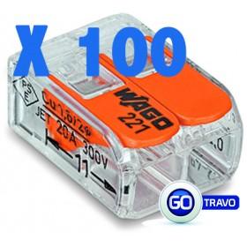 WAGO Wago double pour fil souple ou rigide x 100 221412 100