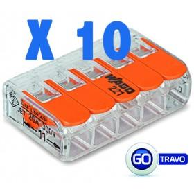WAGO Wago quintuple pour fil souple ou rigide x 10 221415 10