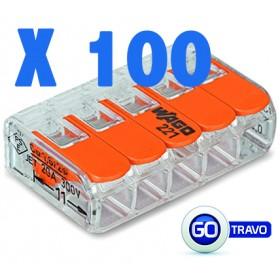 WAGO Wago quintuple pour fil souple ou rigide x 100 221415 100