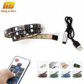 GOTRAVO Ruban LED RGB SMD5050 USB avec controleur sans fil 32821426728