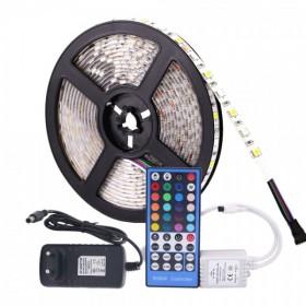 GOTRAVO Ruban LED RGB 12 v Flexible avec alimentation 3A et tv©lv©commande WIFI 32847638586