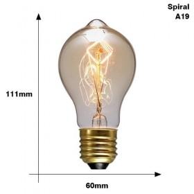 GOTRAVO Lampe retro lampe incandescente ampoule vintage E27 40w 220V Filament plusieurs 32821775776