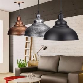 GOTRAVO Suspension Vintage Edison E27 Industriel Rétro Lampe Coupole effet Loft ancien 32778418994