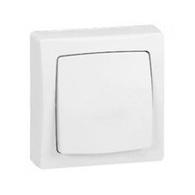 LEGRAND Poussoir 6A Appareillage saillie complet - blanc 86006