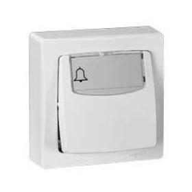 LEGRAND Poussoir porte-étiquette Appareillage saillie complet 6A blanc 86009