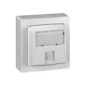LEGRAND Prise RJ45 catégorie6 FTP 9 contacts Appareillage saillie complet - blanc 86047