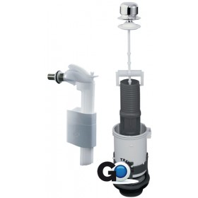 ALTERNA Mécanisme complet NF PREMIO+ à tirette réglage rapide + robinet flotteur MXS90CDB