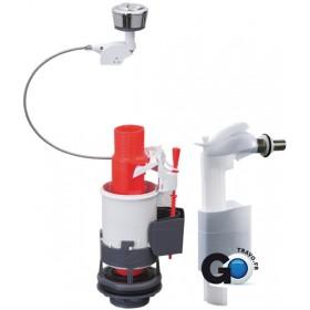 ALTERNA Mécanisme complet DUO+ à double chasse à câble avec robinet flotteur MWS90CDB