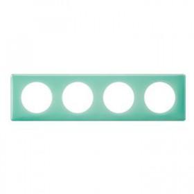 LEGRAND Plaque céliane 4 postes - finition 50's ( turquoise ) 066644 LEGRAND 066644