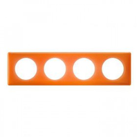 LEGRAND Plaque céliane 4 postes -finition 70's ( orange ) 066654 LEGRAND 066654