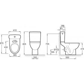 JACOB DELAFON Pack WC ODEON UP avec sortie horizontale, blanc Réf. E0520-00 E0520-00