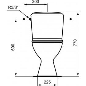 Porcher Pack WC prêt à poser NOE, sortie horizontale, blanc Réf. P948001 P948001