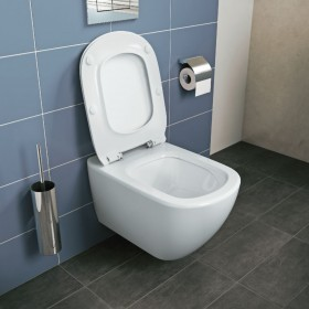 IDEAL STANDARD Pack WC suspendu TESI Aquablade fixations invisibles abattant ultrafin T354601