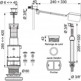 ALTECH Mécanisme complet RENO+ à tirette 10091003