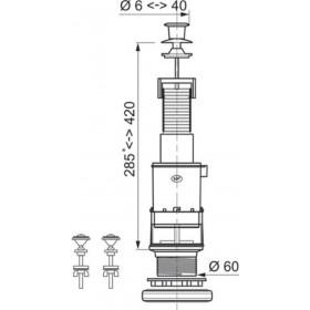 ALTECH Mécanisme seul ECO à tirette rapide bouton blanc sans robinet flotteur MXS00CD