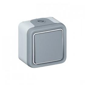 LEGRAND Poussoir no gris saillie 069720