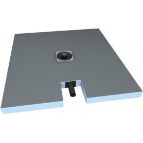 WEDI Receveur carré Fundo Plano - écoulement intégré centré DN 40 - 1,2x1,2 m 073735602