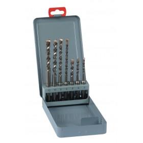 NOVIPRO Coffret métal _7 forets SDS+ 50x110 5-6-8-100x160 6-8-10-12 NOVIPro 106F
