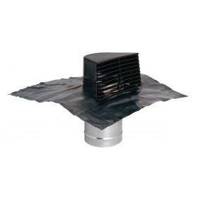 ALDES Sortie de toiture chatiere brune avec plaque de plomb 11022042 ALDES 11022042