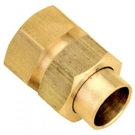 ALTECH Raccord union 3 pièces droit femelle 15/21-14 8340Gcu (sachet de 10 pièces) ALTE 1292ALT10