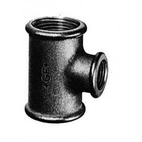VIRFOLLET-ATUSA  Té réduit fonte malléable 130 galvanisée 66-40-66 Réf. 13005979 13005979