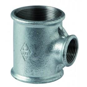 VIRFOLLET-ATUSA  Té réduit N° 130R Fonte malléable noir diamètre : 33x20x33 Réf. 13021646 13021646