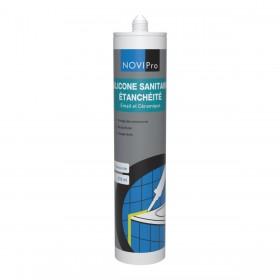 NOVIPRO Mastic silicone sanitaire - translucide - cartouche de 310 ml 132192