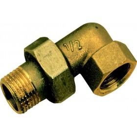 ALTECH Raccord union 3 pièces coudé mâle-femelle 15/21 95 (sachet de 2 pièces) ALTECH 1466ALT2