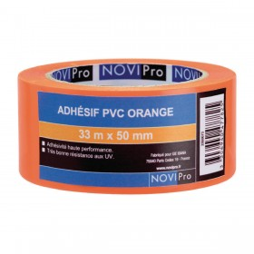 NOVIPRO Adhésif PVC Orange - 33mx50mm2, réf. 171743 171743