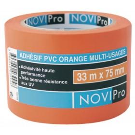 NOVIPRO Adhésif PVC Orange - 33mx75mm réf. 171744 171744
