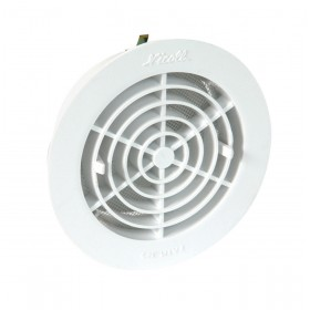 NICOLL Grille d'aération - 1FATM125 - blanc - diamètre 144/110 mm - ép. 38 mm - tube diamètre 38 mm 1FATM125