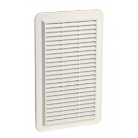 NICOLL Grille d'aération en applique spécial façade - 1GAPMV - polystyrène blanc - 166x 1GAPMV