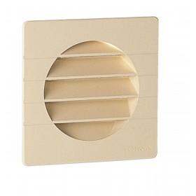 NICOLL Grille d'aération spécial façade pour tube PVC - 1GETM100 - teinte sable - 124x1 1GETM100
