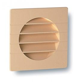 NICOLL Grille d'aération spécial façade pour tube PVC - 1GETM125 - teinte sable - 149x1 1GETM125