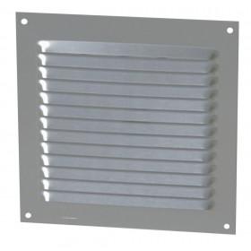 NICOLL Grille d'aération persienne - 1LM1515G - aluminium anodisé gris - 150x150 mm 1LM1515G