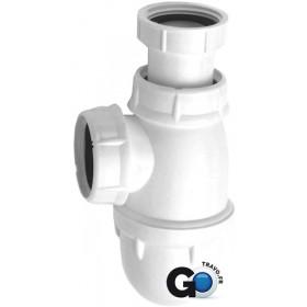 NICOLL Siphon lavabo tube reglable sortie 40x49 L242 réf. 0201022 201022