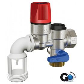 WATTS INDUSTRIE Groupe de sécurité chauffe-eau 20x27 inox coudé Réf 2252571 2252571