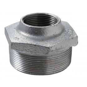 VIRFOLLET-ATUSA  Mamelon réduit N° 241 fonte malléable Galvanisé MF diamètre : 20x12 Réf. 2412504 24125042