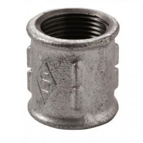 VIRFOLLET-ATUSA  Manchon taraudage droite/gauche N° 271 Fonte malléable Galvanisé: 33x42 27105006