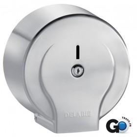 DELABIE Distributeur de papier WC 200 m Inox satiné 8/10 Réf 2902 2902