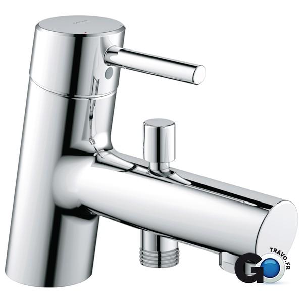 fc24983b0ec3c GROHE Mitigeur bain-douche CONCETTO II monocommande 15x21, mousseur, chromé  Réf 327010 32701001