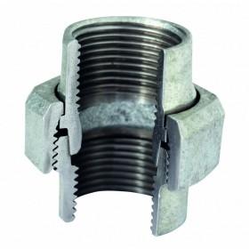 VIRFOLLET-ATUSA  Manchon union à joint conique N 340 Fonte malléable Galvanisé FF 33x42 34025006