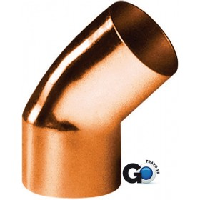 ALTECH Coude cuivre 5040 petit rayon 45° mâle femelle D 16 ALTECH (Sachet de 2 ) 5040-16(2)