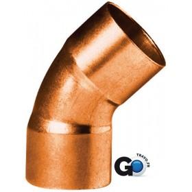 ALTECH Coude cuivre 5041 petit rayon 45° femelle femelle D 22 ALTECH sachet de 10 5041-22(10)