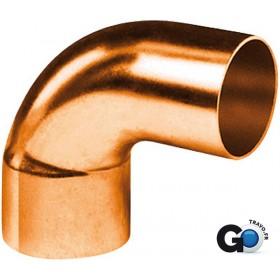 ALTECH Coude cuivre 5092 petit rayon 90° mâle femelle D 22 ALTECH (Sachet de 2) 5092-22(2)