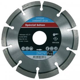 NOVIPRO Disque diamant segments soudés laser Novipro D125x22,2 70184623915