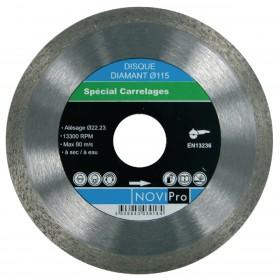 NOVIPRO Disque diamant jante continue lisse carrelage Novipro D125x22,2 70184623919